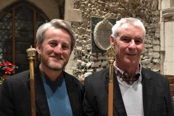 The Churchwardens waved their magic wands... and it was Christmas Day!