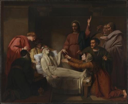 The Raising of Jairus' Daughter exhibited 1820 Henry Thomson 1773-1843 Presented anonymously 2012 http://www.tate.org.uk/art/work/T13558