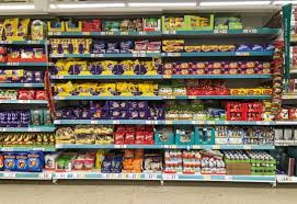 easter eggs in shops