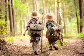 kids walking together